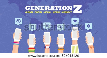 Generation Z Vector Illustration