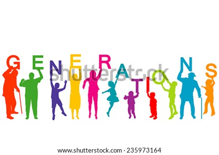 generations concept with people