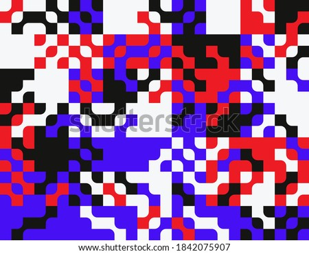 Generative design artwork graphics of bizarre computer vector generated shapes and abstract geometric design elements, useful for web background, poster fine arts, front page covers and digital prints Stock photo ©