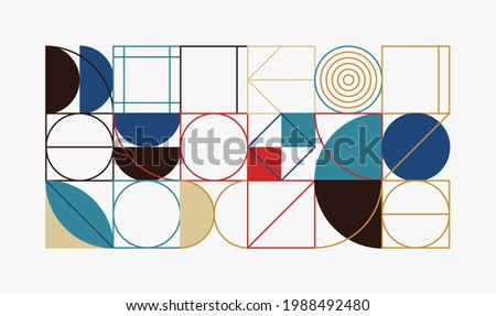 Generative design artwork graphics of bizarre computer vector generated shapes and abstract geometric design elements, useful for web background, poster fine arts, front page covers and digital prints