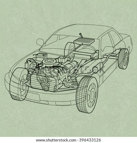 car engine drawing download free vector art stock graphics images rh vecteezy com