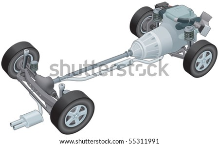 Generic car rolling chassis