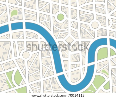 Generic City Map. - stock vector