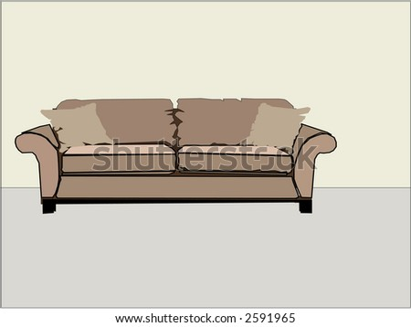 Generic home interior design sofa couch room plain