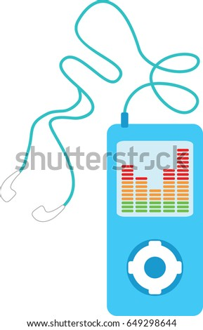 Generic mp3 player in vector