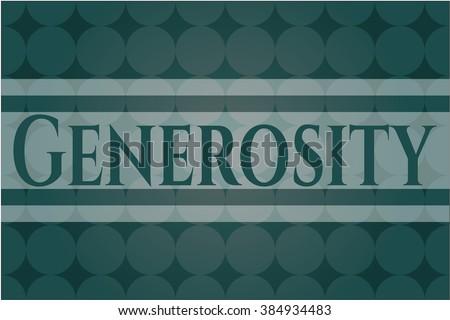 Generosity card, colorful, nice design
