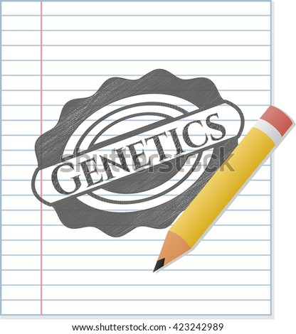 Genetics draw with pencil effect