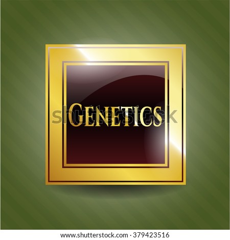 Genetics golden emblem