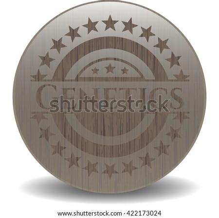 Genetics realistic wooden emblem