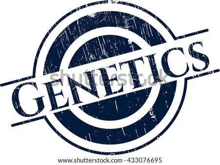 Genetics rubber grunge texture stamp
