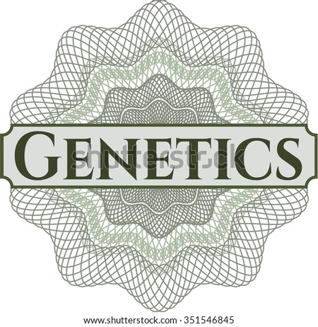 Genetics watercolor background