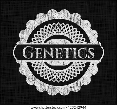 Genetics with chalkboard texture