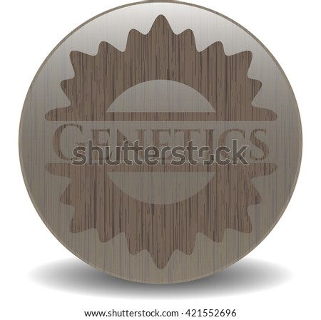Genetics wooden emblem. Retro