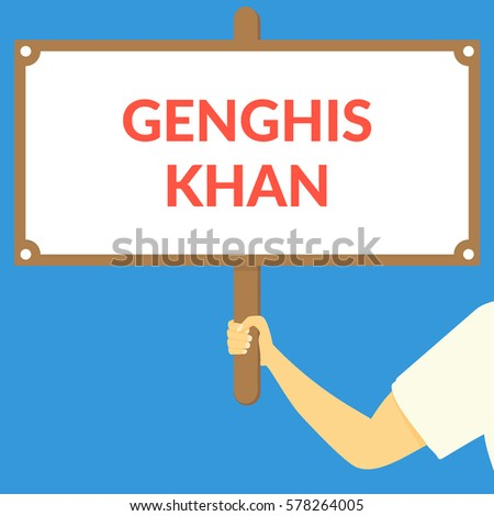 genghis khan hand holding