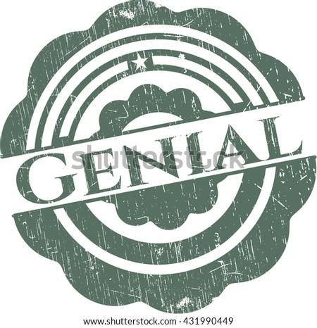 Genial rubber grunge stamp