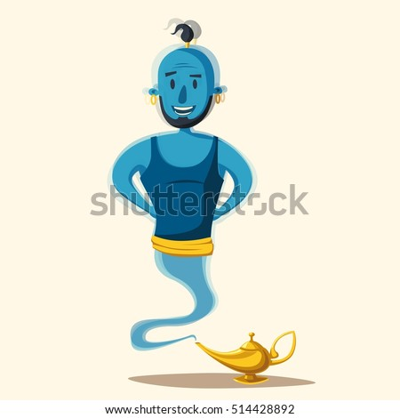 genie coming out of a magic
