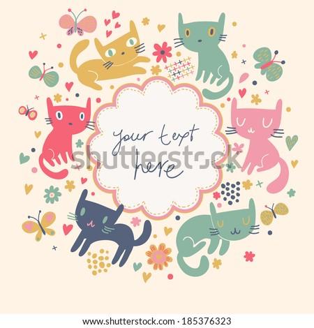 gentle cartoon background with