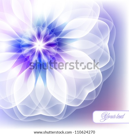 Gentle greeting card with a floral design