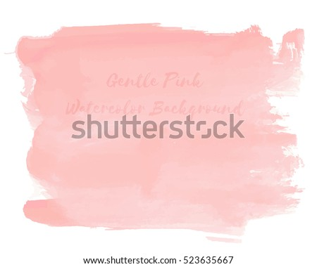 gentle pink watercolor