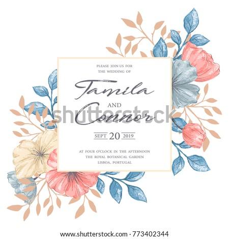 gentle vintage romantic floral