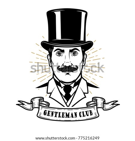 gentleman club. man head in...