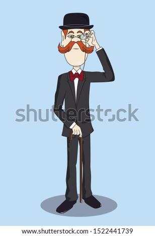 gentleman Elegant gentleman british man