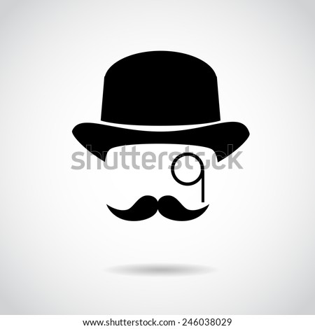 gentleman icon isolated on