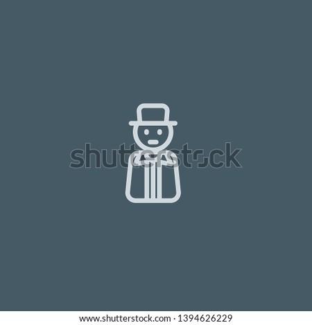 Gentleman vector icon. Gentleman concept stroke symbol design. Thin graphic elements vector illustration, outline pattern for your web site design, logo, UI. EPS 10.