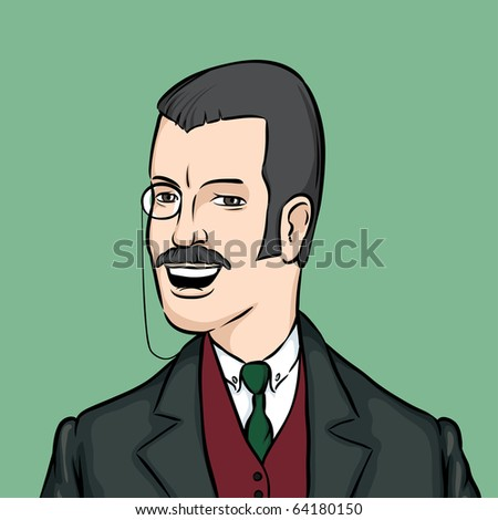 stock-vector-gentleman-with-moustaches-a