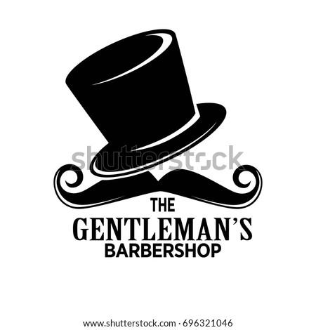 gentlemans barber shop black...
