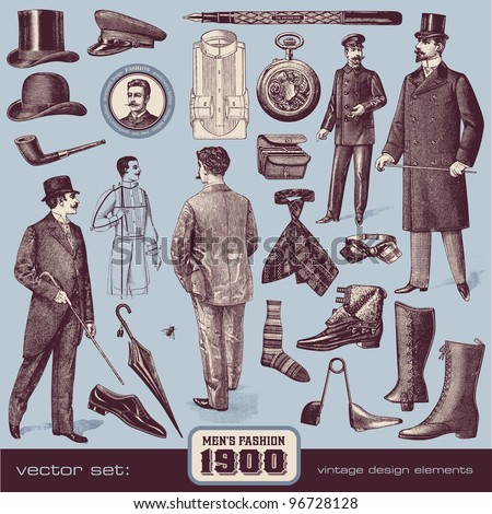 Gentlemen's Fashion and Accessories 1900
