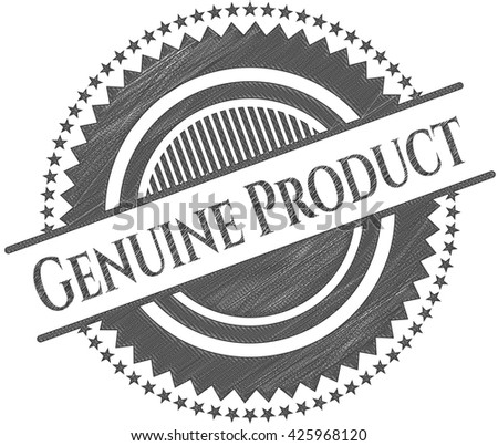 Genuine Product drawn with pencil strokes