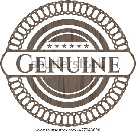 Genuine wood emblem. Retro