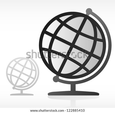 geography earth globe icon  two