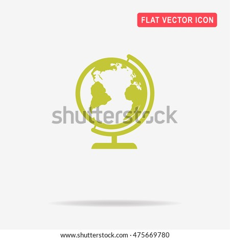 Geography earth globe icon. Vector concept illustration for design.