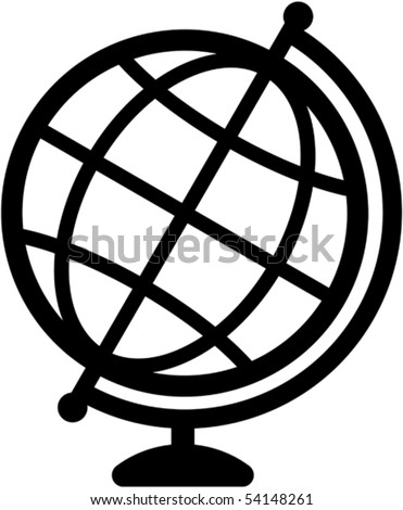 Geography earth globe icon - vector illustration