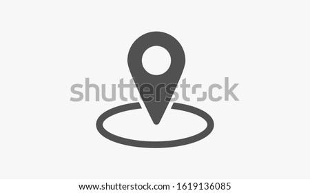 Geolocation map pin vector icon. Geolocation map pin for phone icon.Geolocation map pin for the Navigator icon. Geolocation map pin for online