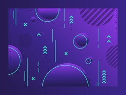 Geometric abstract background. Trendy patterns and dynamic composition. Future geometric patterns. Colorful halftone gradients. Eps10 vector