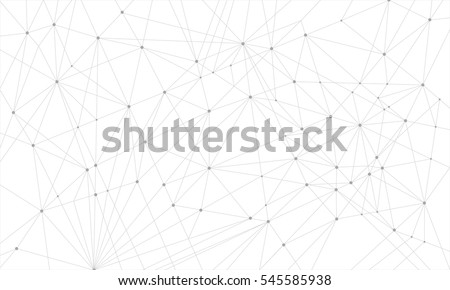 Geometric abstract background with connected line and dots. presentation background for. Vector illustration.