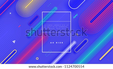 Geometric abstract background with trendy patterns and colors. Vector eps10 illustration