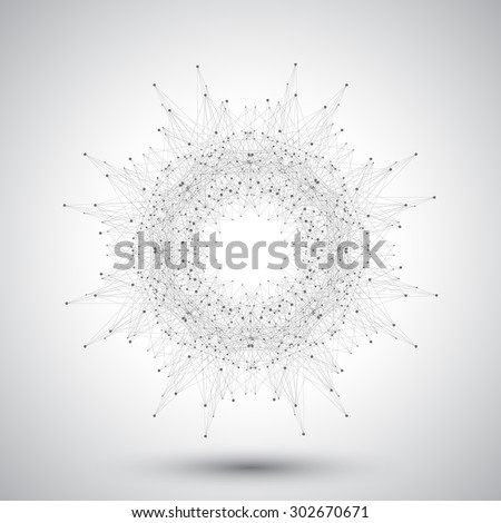 geometric abstract form with