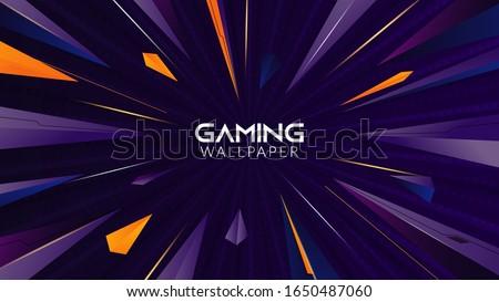 stock vector geometric abstract gaming wallpaper k 1650487060