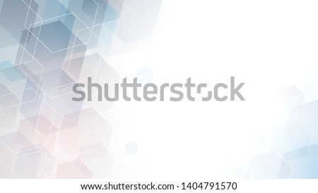 Geometric abstract hexagon technology. Vector eps 10