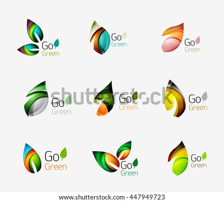 Geometric abstract nature logo. Vector illustration