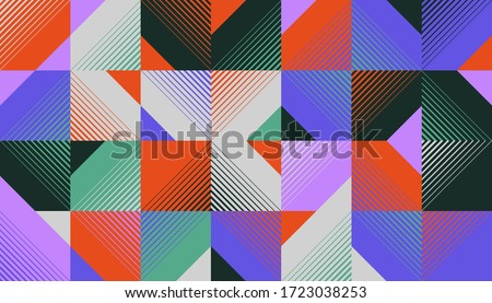 Geometric abstract vector pattern design made with line transition graphics effect. Great for backgrounds and textures, web design, poster art, branding elements, textile and fabric prints.