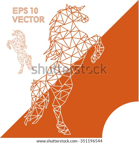 geometric animal horse outline