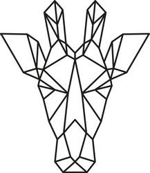 Geometric Animal, Modern Printable Wall Art, Geometric Linear Polygonal Animal, Contour for tattoo, logo, emblem, vector, illustration, Scandinavian style, Abstract Polygonal the Head of giraffe