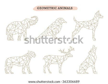geometric animals illustration