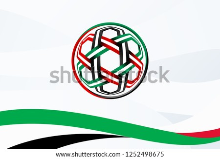 geometric arabic pattern Green, Red, Black