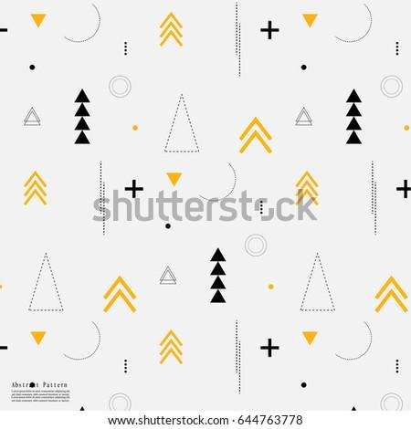 geometric arrow flat pattern